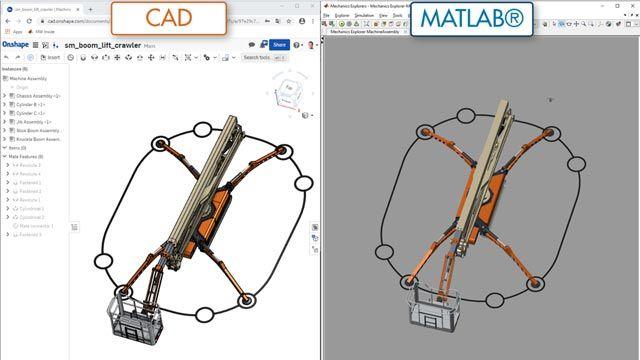 ブームリフト、CAD インポート