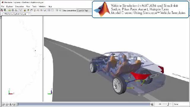 Simscape を使用したパワートレイン設計シミュレーションを示すアニメーションをご覧ください。