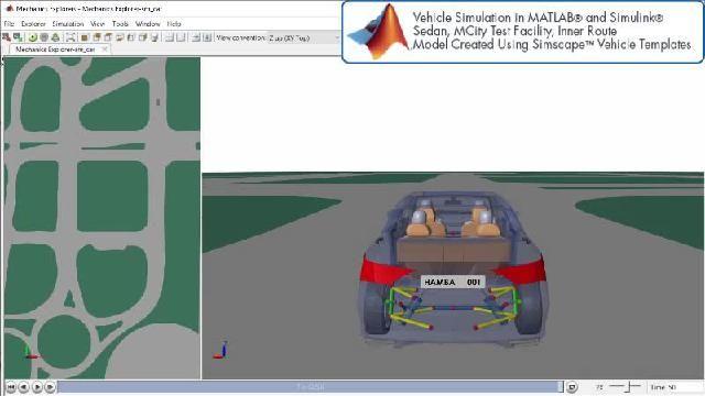 Simscape を使用した自動運転シミュレーションを示すアニメーションをご覧ください。