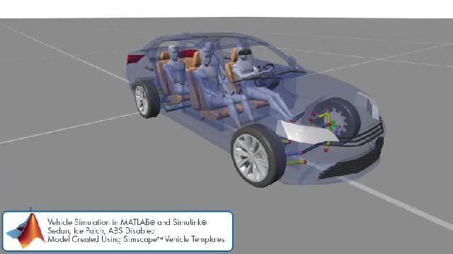 Simscape を使用したシャーシ制御シミュレーションを示すアニメーションをご覧ください。
