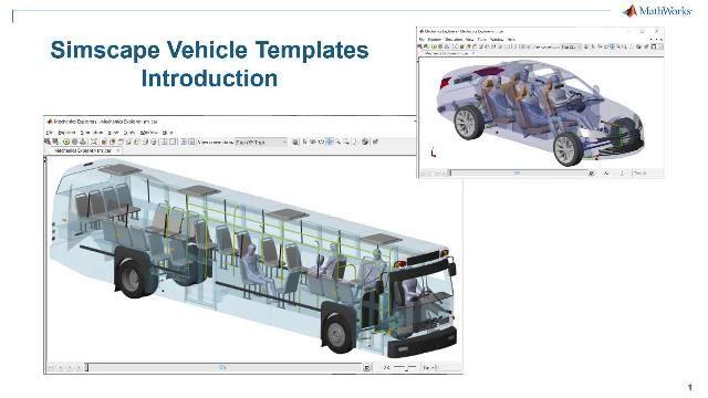 Simscape Vehicle Templates の概要を説明します。このテンプレートには、設定可能な車両のモデルや、カスタマイズ可能なコンポーネントのライブラリのほか、車両や実行したいイベントのカスタマイズに使用可能なユーザー インターフェイスが含まれます。