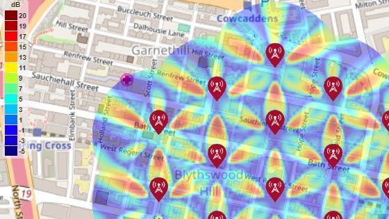 5G アーバン マクロセル テスト環境用 SINR マップ
