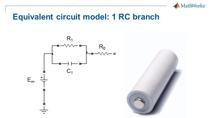 In this webinar, we create an equivalent circuit battery model in Simscape which can be used to model lithium battery cells. The presentation will show the step-by-step procedure to create an equivalent circuit model, including creating custom compo