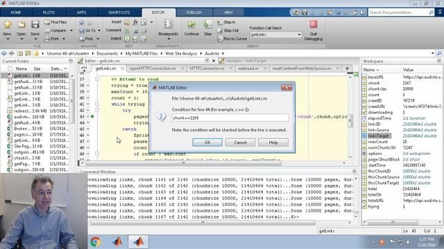 In Release 2016a, you can now pause a running MATLAB program and enter debug mode. Here, I use this feature to stop a long running script to confirm it is working correctly.