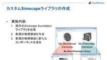 本Webセミナーでは、Simscape Languageを使用した、物理システムの基本的なモデリング方法を紹介いたします。Simscape Languageは物理モデリングツールSimscapeにおけるひとつの機能で、Simulink環境で使用することができるMATLABベース・オブジェクト指向の物理モデリング言語です。Simscape Languageを使用することで、物理ネットワークの枠組みに基づいた、独自のコンポーネントのモ