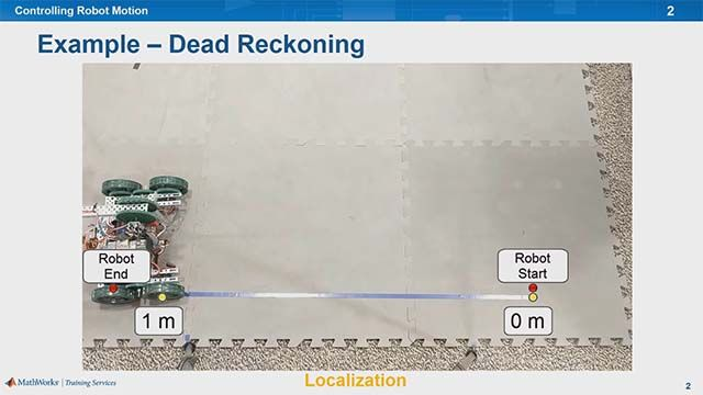 Learn how to control a robot to move on its wheels autonomously using dead reckoning.