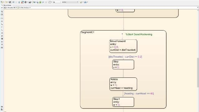 Learn how to design a supervisory logic that navigates a robot through a predefined path.